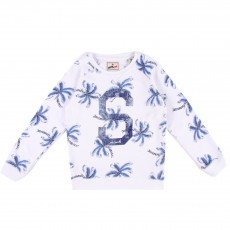 "Sweat ""S"" Palmiers Blanc"