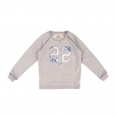 "Sweat ""22"" Gris clair"