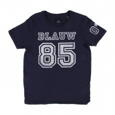 """T-shirt """"85"""" Bleu marine"""