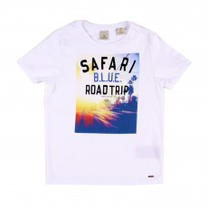 T-shirt Photo Safari Blanc