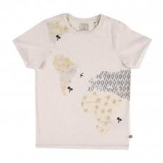T-shirt Mappemonde Ecru