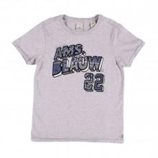 """T-shirt """"Blauw 22"""" Gris"""