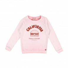 Sweat California Burger Rose pâle