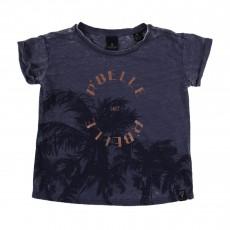 T-shirt Palmiers Bleu