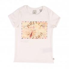 T-shirt Enveloppe Postale Blanc