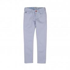Pantalon Satin De Coton Le Voyage Bleu ciel
