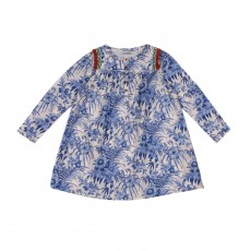 Robe Imprimée Bleu