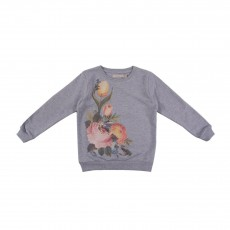 Sweat Fleurs Billy Gris chiné