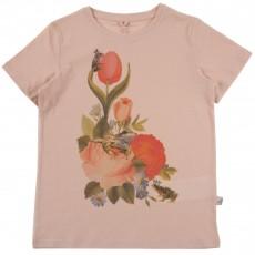 T-shirt Fleurs Arlo Rose pêche
