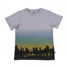 T-shirt Dégradé Chevaux Arlo Gris chiné