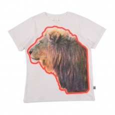 T-shirt Lion Arlo Blanc