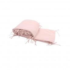 Tour de lit crêpe de coton Elfe - Rose pâle