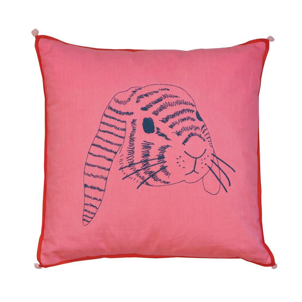 coussin t te de lapin mimi 39 lou d coration smallable. Black Bedroom Furniture Sets. Home Design Ideas