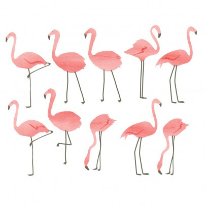 Stickers flamants roses mimi 39 lou d coration smallable for Meubles flamant outlet