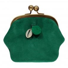 Porte Monnaie Suede Prettiest Vert émeraude
