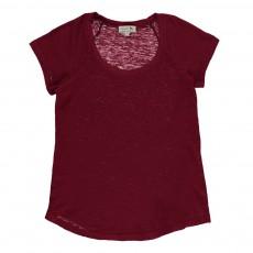 T-shirt Coton Et Lin Norbert Bordeaux