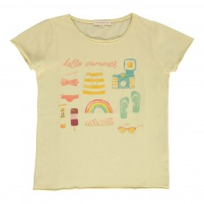T-shirt Hello Summer Jaune pâle