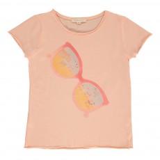 T-shirt Lunettes De Soleil Rose pêche