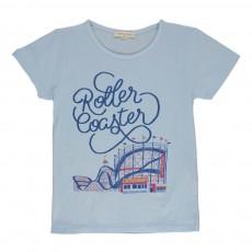 T-shirt Roller Coaster Bleu pâle