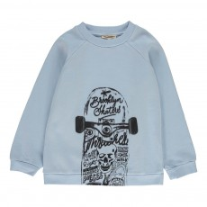 Sweat Skateboard Bleu pâle