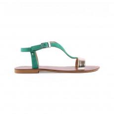 Sandales Eolios Bicolores Vert émeraude