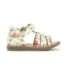 Sandales Poppy Strap Fleurs Blanc
