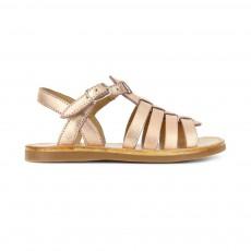 Sandales Plagette Strap Cuivre