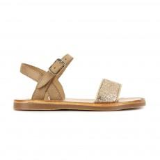Sandales Plagette Buckle Tao Sable