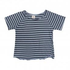 T-shirt Rayé Santos Bleu azur