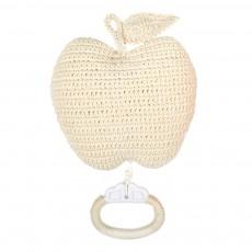 Boîte à musique pomme Ecru