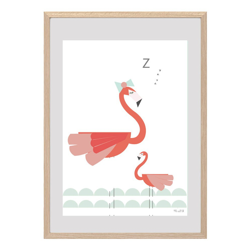 affiche flamant rose april eleven d coration smallable. Black Bedroom Furniture Sets. Home Design Ideas