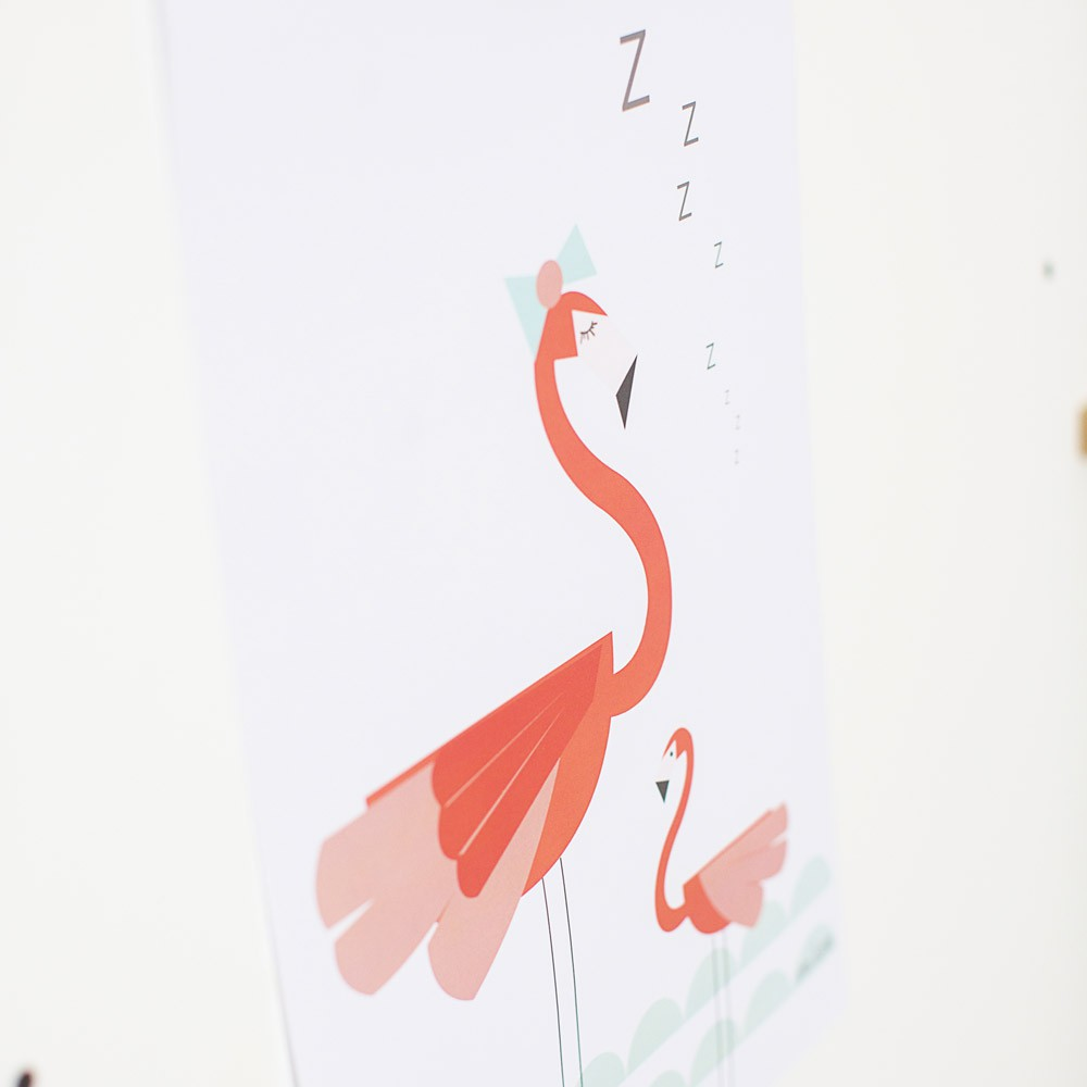 Affiche flamant rose april eleven d coration smallable for Meubles flamant outlet