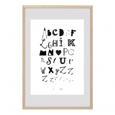 Affiche ABC Blanc