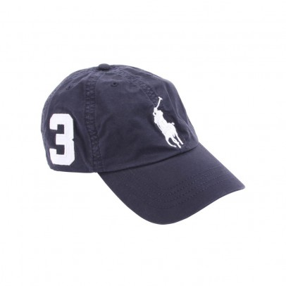 Berretto big pony blu marino ralph lauren   moda bambini   smallable