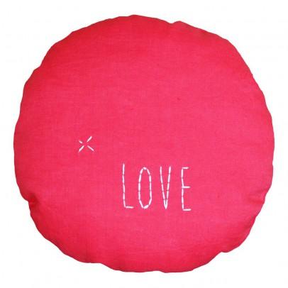 coussin rond d23 cm love rose fuschia blossom paris. Black Bedroom Furniture Sets. Home Design Ideas