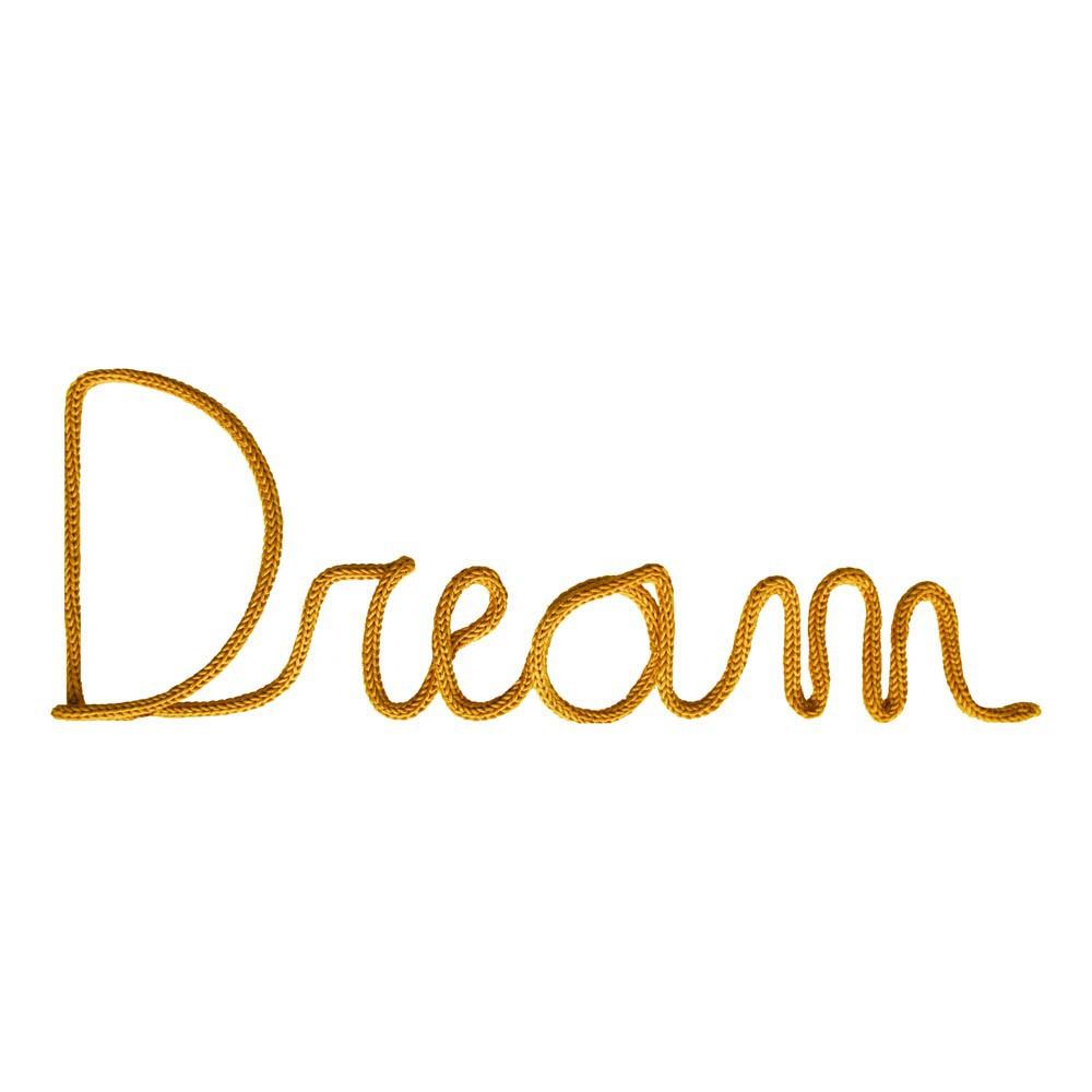 d coration murale mot dream jaune moutarde blossom paris d coration smallable. Black Bedroom Furniture Sets. Home Design Ideas