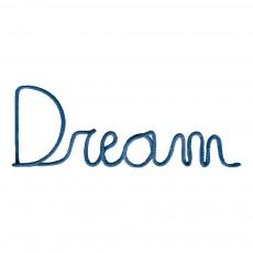 Décoration murale mot Dream - Bleu pétrole