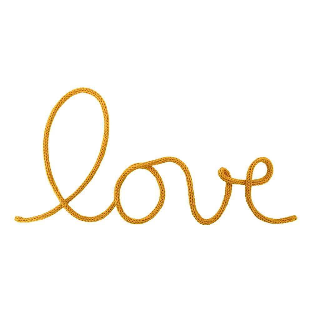D coration murale mot love jaune moutarde blossom paris for Decoration murale jaune