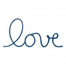 Décoration murale mot Love - Bleu pétrole