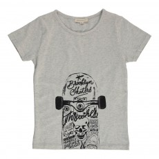 T-shirt Skateboard Gris chiné