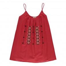 Robe Broderies Soleil Rouge