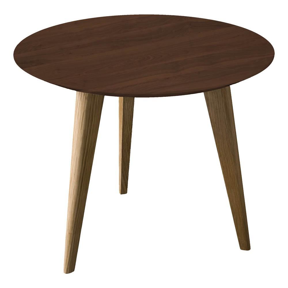 table lalinde ronde noyer sentou mobilier smallable. Black Bedroom Furniture Sets. Home Design Ideas