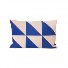Coussin Twin Triangle - Bleu - 60x40 cm