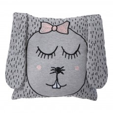 Coussin Mme Lapin - 30x30 cm