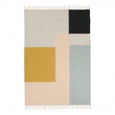 Tapis Kelim - Carrés multicolores - 140x200 cm
