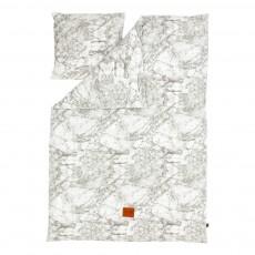Parure de lit Marbre - Gris - 140x200 cm