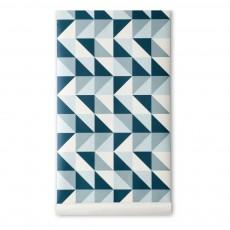 Papier peint Remix - Bleu - 10.05 x 0,53 m