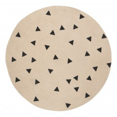 Tapis rond triangles noirs D100 cm