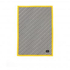 Couverture rayée 100 x70 cm - Jaune