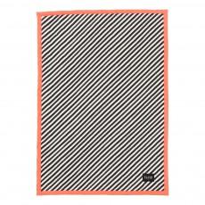 Couverture rayée 100x70 cm - Rose fluo